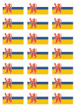 Limburg Flag Stickers - 21 per sheet